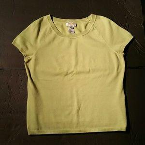 Talbots Green Cotton Sweater. L